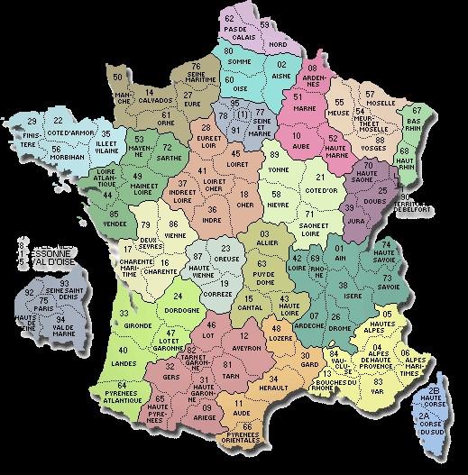 carte rivière de france